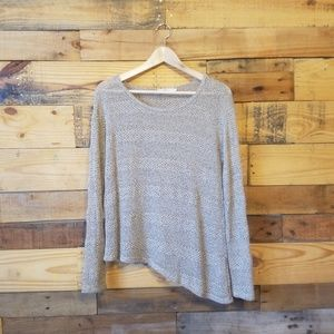 Anthropologie Elodie Asymmetrical Sweater